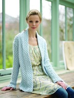 Free knitting pattern for Cabled Jacket by Debbie Bliss  - Sizes 81–86 91–97 102–107 cm, 32–34 36–38 40–42 in