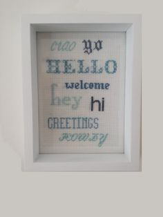 Cross stitch kit welcome by keeryhome on Etsy, £8.00