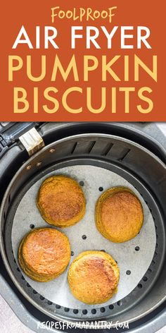 These air fryer biscuits are deliciously flaky and full of flavor! Nothing says fall like pumpkin biscuits, and they'll be the perfect side for your Thanksgiving or Friendsgiving feast. Plus it's so easy to make, the kids can even help you whip up a batch of these Instant Pot Biscuits cooked with an air fryer lid attachment. Click through to get the awesome air fryer biscuit recipe!! #airfryer #instantpot #biscuits #pumpkinbiscuits #southernrecipes #side #pumpkinrecipes #fallrecipes Easy Potluck Recipes, Healthy Potluck, Healthy Comfort Food, Air Fryer Recipes Vegan, Air Fryer Dinner Recipes, Air Fryer Healthy, Southern Recipes, Southern Food, Southern Style