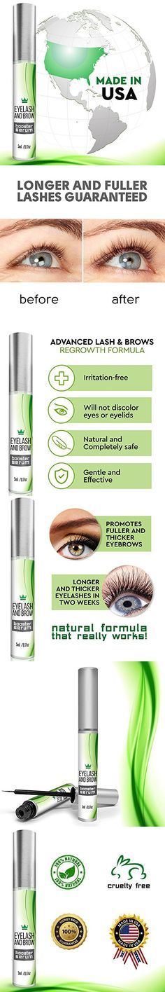 23e45f8e0c1 Natural Eyelash Growth Serum - Lash Booster & Eyebrow Enhancing Serum to  Grow Thicker, Longer