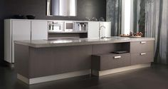 Muebles de cocina. G-625 acabado Roble Cañamo / G-580 Ceniza Brillo. GAMADECOR.