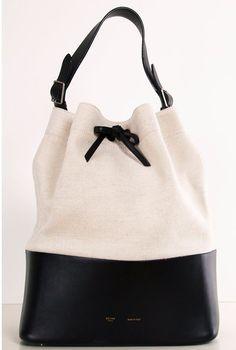 Black + White color blocked Celine tote.