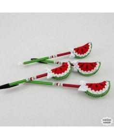 Ponteira de lápis melancia