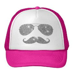 Camaroonie Tunes - Funny Diamond Mustache With Glasses Mesh Hat Funny Hats, Barbie, Popular Colors, Markiplier, Mustache, Cowboy Hats, Pink Ladies, Baseball Hats, Fashion Accessories