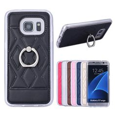 Finger Holder Samsung Galaxy S7 Edge TPU + PU Leather Soft Cover