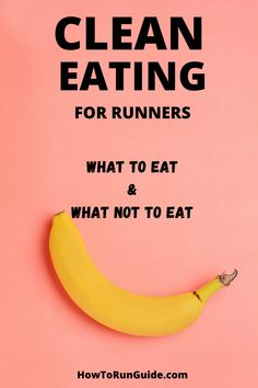 How to eat clean to fuel your runs, and your life! Clean eating for runners isn't just about eating bananas (although that helps!). Find out what runners should be eating in their clean diet to fuel their body the right way. Best Food For Runners, Runners Food, Nutrition For Runners, Running Training Plan, Marathon Training, Good Healthy Recipes, Clean Recipes, Healthy Food, Clean Diet