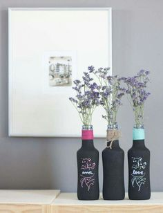 Botellas recicladas deco