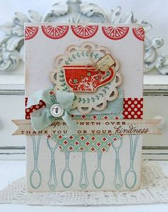 Scrapbooking and Crafts by estela Shabby Chic Karten, Shabby Chic Cards, Envelopes, Coffee Cards, Ideas Geniales, Card Tags, Cool Cards, Creative Cards, Greeting Cards Handmade