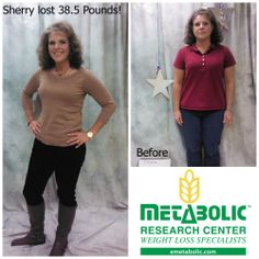 "Sherry lost 38.5 pounds and 4 dress sizes! She says "" I am more confident and less self conscious; I know I am doing the right thing for me. I have so much more energy and I am thrilled to say I no longer have heart burn!"" Learn more at www.emetabolic.com #weightloss #metabolicresearchcenter #motivation"