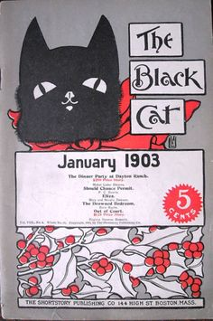 """The Black Cat"" magazine cover - January 1903"