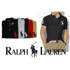camisa Polo Ralph Lauren Big Pony cores escuras Coisas De Homens fb15768ed5a
