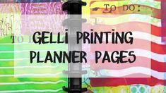 "Watch this video for ideas on monoprinting your own artful planner pages!  The key to keeping a planner/art journal is having it with you! That can mean keeping a special tote for your planner and supplies—and Gelli® plates fit right in. Whoever said ""you can't take it with you"" clearly didn't have Gelli® printing in mind! Gelli plates offer so many advantages as a printmaking tool—and among them is portability!"