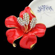 Цветок брошь - корейский качества полка прекрасно розы невесты корсаж цветок Brooch Pin ювелирных изделий # 1580241
