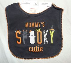 New Baby Girl Carter's My First Halloween Bib Mommy's Spooky Cutie Ghost Witch #Carters