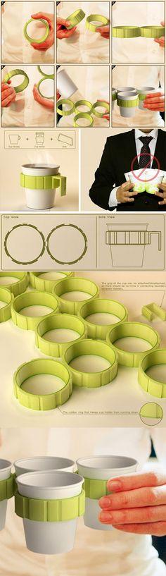 Modular Heat-Free Holders Help Carry Multiple Coffee Cups