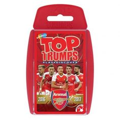Arsenal FC Edition of the classic card game Top Trumps featuring member of the current Arsenal team. FREE DELIVERY ON ALL OF OUR GIFTS