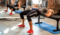 Great workout for building that booty! Bodybuilding.com - Janelle McGuire's Rock Bottom Workout