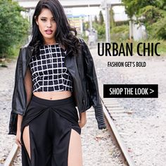 Style Link Miami - Shop The Look - Urban Chic - Print Grid Top