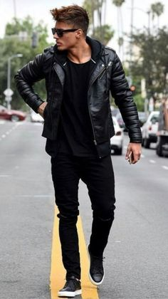 Fashion Mens Casual Winter Modern Gentleman Menswear Trendy Ideas Source by ronelledarvall Winter fashion Black Leather Jacket Outfit, Black Outfit Male, Biker Jacket Outfit, Mode Swag, Cool Jackets For Men, Mens Casual Jackets, Leather Jackets For Men, Winter Jackets For Men, Men's Jackets