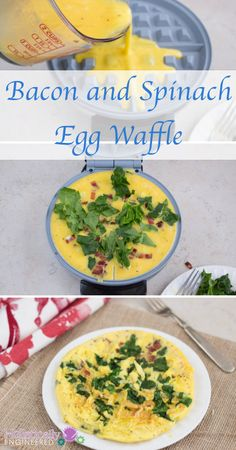 Bacon and Spinach Egg Waffle | holisticallyengineered.com #paleo  #lowcarb #breakfast
