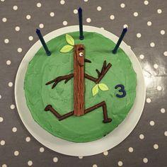 Stick man birthday cake