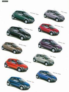 1996 Ford Ka colour choice