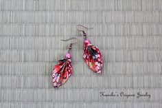 Origami Jewelry  Japanese Origami Leaf Earrings by KumikosOrigami