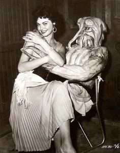 Gloria Talbott on the set of I Married a Monster from Outer Space, 1958