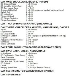 bikini fitness model workout and diet plan Pilates Workout, Workout Plan Gym, Bikini Workout, Weekly Gym Workouts, Body Pump Workout, Weekly Workout Routines, Beginners Gym Workout Plan, Gym Beginner, Workout Programs For Women