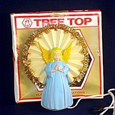 National Tinsel Lighted Praying Angel Christmas Tree Topper. Click the image for more information.
