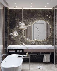 Masculine Bathroom Interior Design Elegant Bathroom Luxury Masculine Bathroom Design Bathrooms – Most Popular Modern Bathroom Design Ideas for 2019 Modern Bathroom Mirrors, Bathroom Layout, Bathroom Ideas, Modern Bathrooms, Boho Bathroom, Bathroom Designs, Boutique Bathroom, Bathroom Mirror Lights, Brass Bathroom