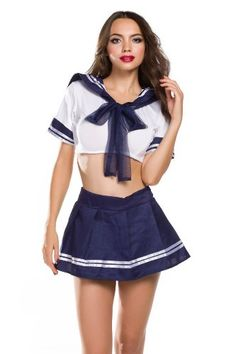 Amour- New Cute Sexy Japanese School Girl Sailor Uniform Cosplay Costume One Size #Amour- #New #Cute #Sexy #Japanese #School #Girl #Sailor #Uniform #Cosplay #Costume #One #Size