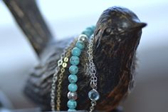 New jewellery designs in my etsy store. Turquoise, silver and gold = Gypsy Love.