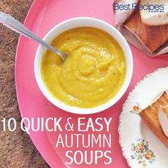 This collection of soups features a variety of vegetables in season including everyone's favourite - pumpkin. #souprecipes #soup #pumpkinsou...