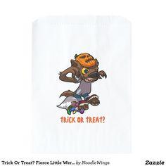 Trick Or Treat? Fierce Little Werewolf Cartoon