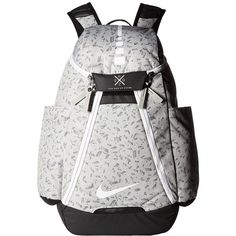 dc57a599fd14 Nike Hoops Elite Max Air Backpack (Pale Grey Black White) Backpack... ( 90)  ❤ liked on Polyvore featuring bags