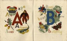 """Just enough at the bottom of each page to create your child's name in similar style.  from atelier pour enfants: """"A Child's Alphabet"""""""