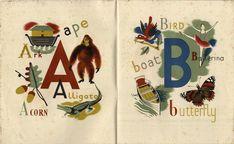 Beautiful vintage alphabet book