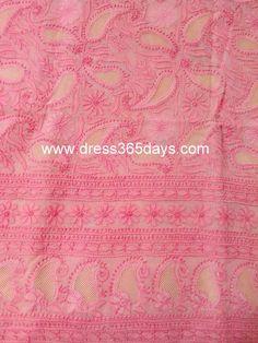 Buy Pink Unstitched Kurta with Jaali Work(One Piece) #jaaliwork, #paisleys #dress365days