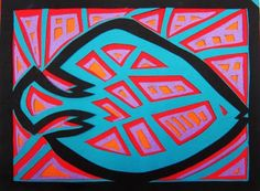 Molas with construction paper