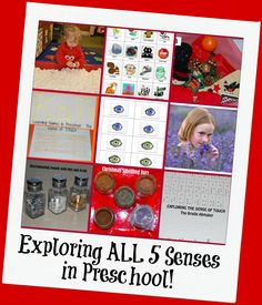 5 Senses Theme Activities for Preschool