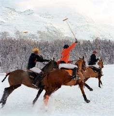 "RL Magazine: Snow Polo Snow polo players of St Moritz shot by Photographer Klaus Thymann for his book Hybrids "" """