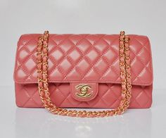 1fca492e9e21c9 2012 Chanel 2.55 Bags 1113 Hot Pink Leather Gold Chain Classic Flap Chanel  Chain Bag,