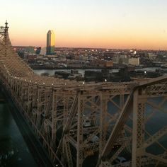 A delightful view of the queensborough bridge and queens! :)