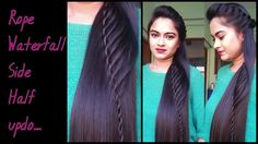 3 easy and quick indian wedding hairstyles valine punamia hairstyles for medium to long hair rope waterfal half updo indian party hairstyles youtube solutioingenieria Choice Image