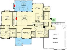 Striking Craftsman with Option for 5 Beds - 36076DK   Architectural Designs - House Plans