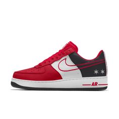 finest selection ce102 a656e Nike Air Force 1 Low Premium iD (Chicago Bulls) Men's Shoe Air Force Ones