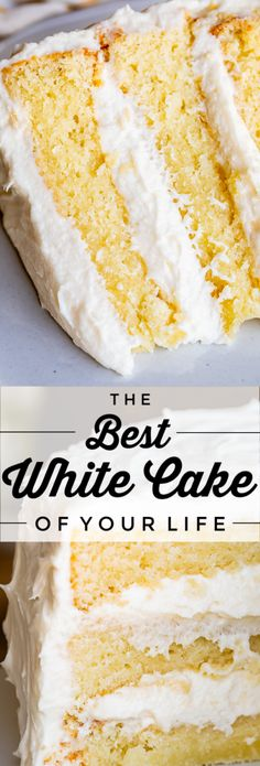 The Best Homemade White Cake Recipe of Your Life from The Food Charlatan. Finally a moist white cake from scratch that doesn't taste like cardboard. I promise, this will be the best homemade white cake recipe of your life! It's soft and fluffy Cake Recipes From Scratch, Best Cake Recipes, Easy Cookie Recipes, Baking Recipes, Dessert Recipes, Recipe For Cakes, White Cake Recipes, Homemade White Cakes, Homemade Birthday Cakes