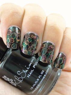 Neon Jellyfish Nails