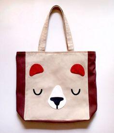 Little Odd Forest - Honey Bear Tote Bag